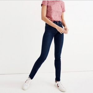 """Madewell 9"""" High-Rise Skinny in Larkspur F8990"""